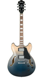 Ibanez Artcore AS73FM Semi-Hollow Electric Guitar - Transparent Indigo Fade - American Music