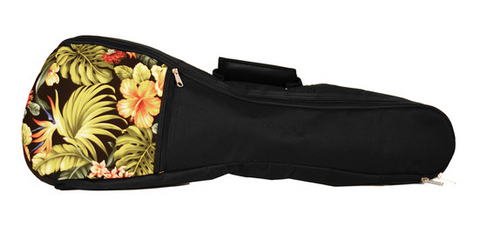 KALA Hawaiian Accent Padded Bag for Tenor Ukulele (Floral) - American Music