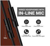 OneOdio® A71 Wired Bass Headphones - Brown - American Music
