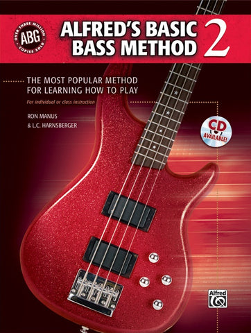 Alfred Music Basic Bass Method, Book 2 (CD Included)