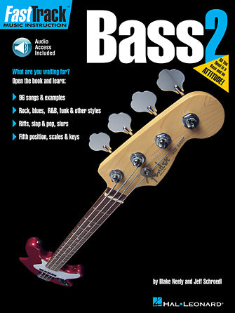 Hal Leonard Fast Track Bass Method, Book 2 (CD Included)