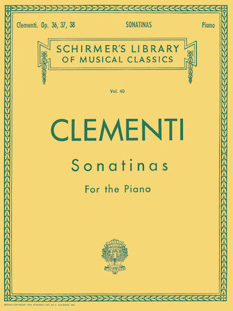 Schirmer's Library of Musical Classics - Vol. 40 - CLEMENTI 12 Sonatinas for Piano
