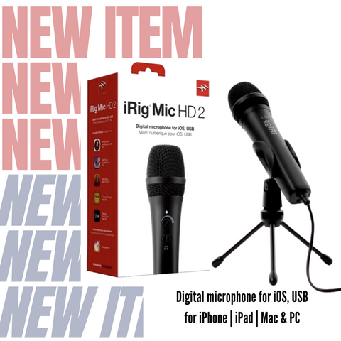 iRig Mic HD 2 Digital Microphone for iOS, USB