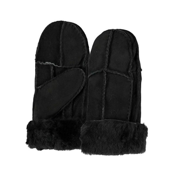 Kaia Real Black Sheepskin Mittens - Hygge & Fur