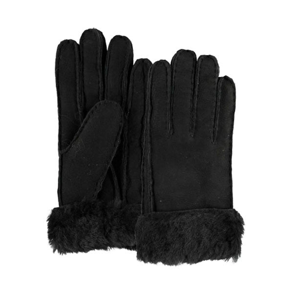 Kila Black Real Sheepskin Gloves - Hygge & Fur