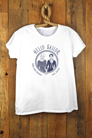 Hello Sailor Lady Logo Tee