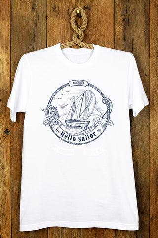 Hello Sailor Boat Rope Tee