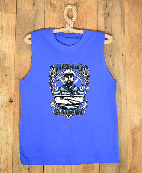 Blue Beared Sailor T-Shirt