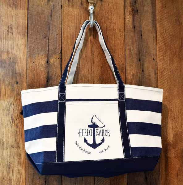 Nautical Anchor Beach Bags By Hello Sailor TMH