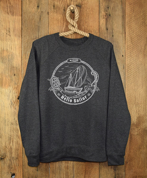Hello Sailor Dark Gray Sweatshirt
