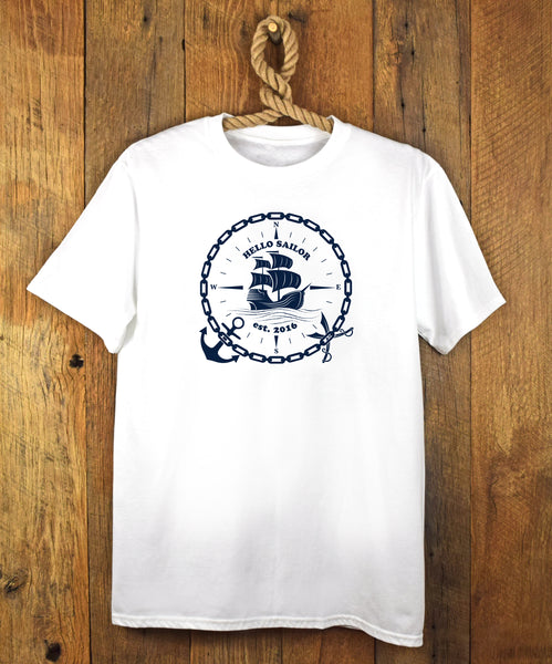 Hello Sailor Boat Chain Tee