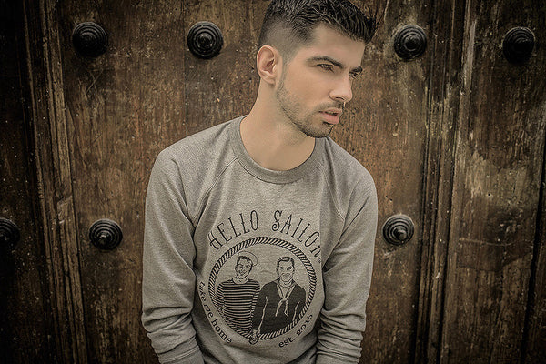 Hello Sailor Kayden Boche gray sweatshirt