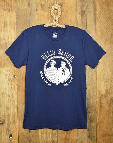 Hello Sailor Navy Logo T Shirt