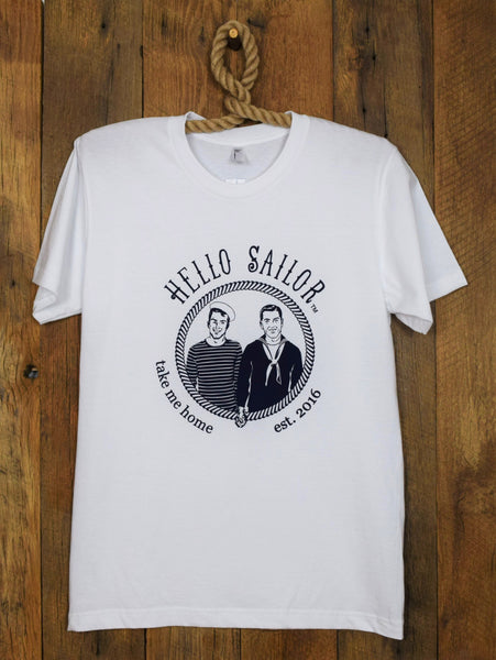 Hello Sailor White T Shirt