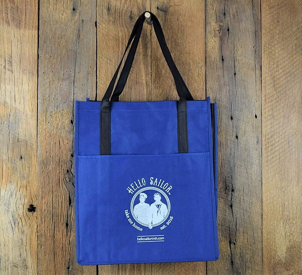 Hello Sailor blue shopping bag