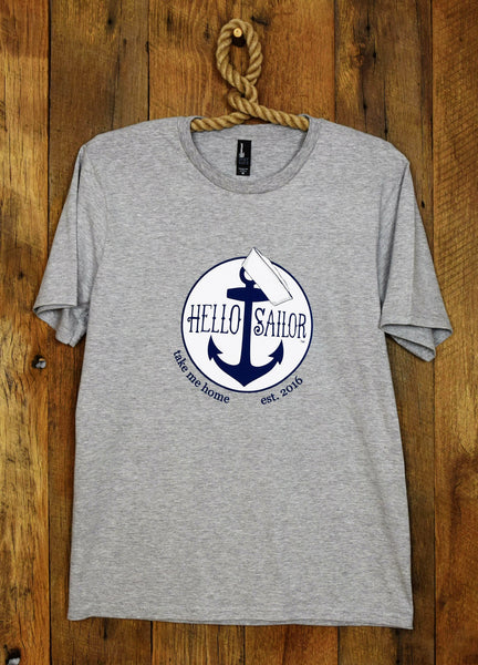 Hello Sailor Gray Gay T Shirts