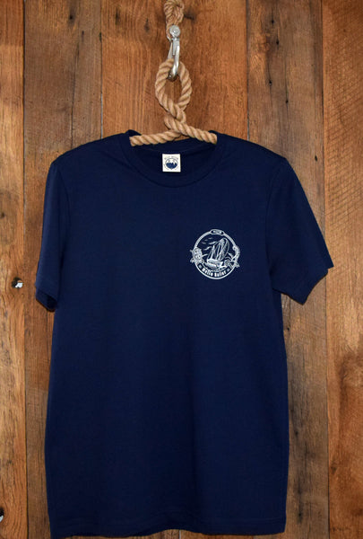 Navy Boat tee hello sailor