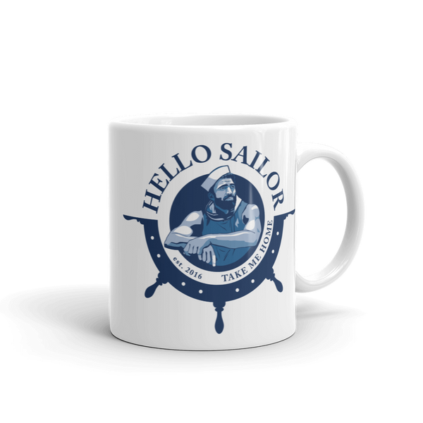 hello sailor sailor scruff coffee mug
