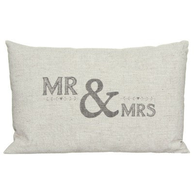 East of India Mr and Mrs cushion