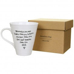 East of India mug Remember you are braver....