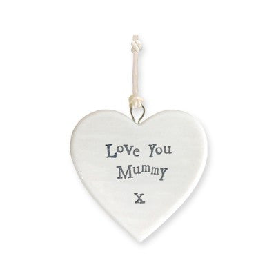 East of India porcelain heart Love you mummy