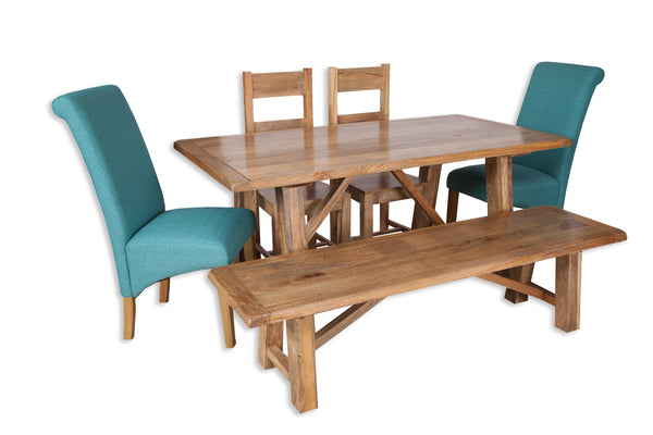 Rustic Mango 1.75 M Dining Table with trestle legs