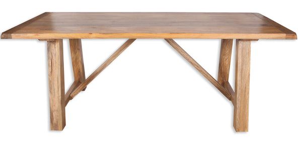 Rustic Mango 2 M Dining Table with trestle legs