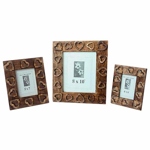 Heart design photograph frame medium size