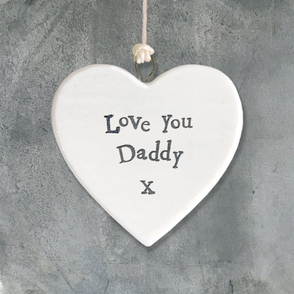 East of India porcelain heart Love you Daddy