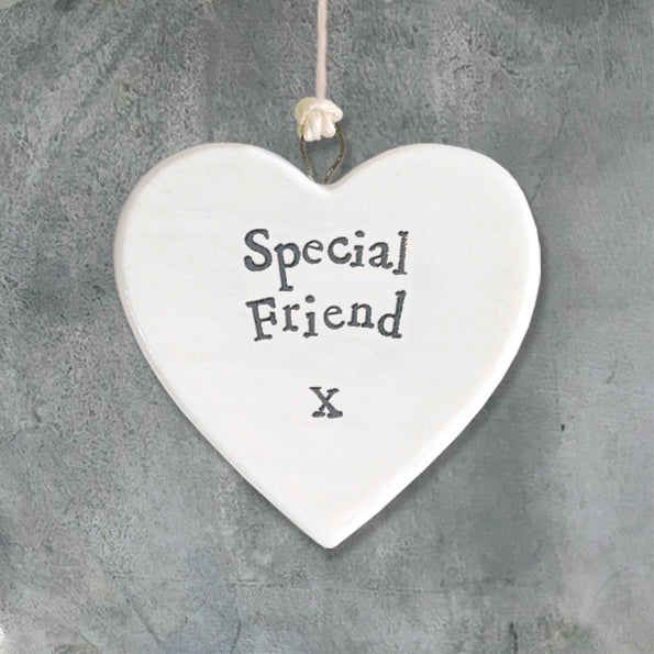 East of India porcelain heart Special friend