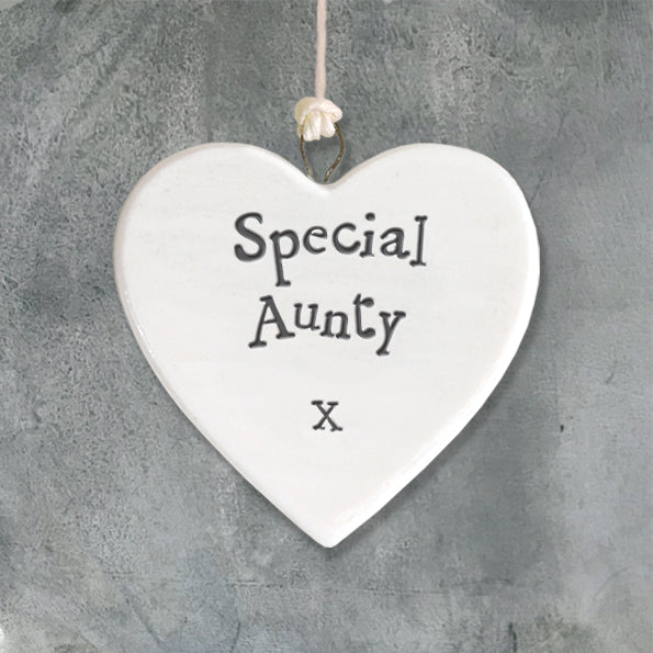 East of India porcelain heart Special Aunty