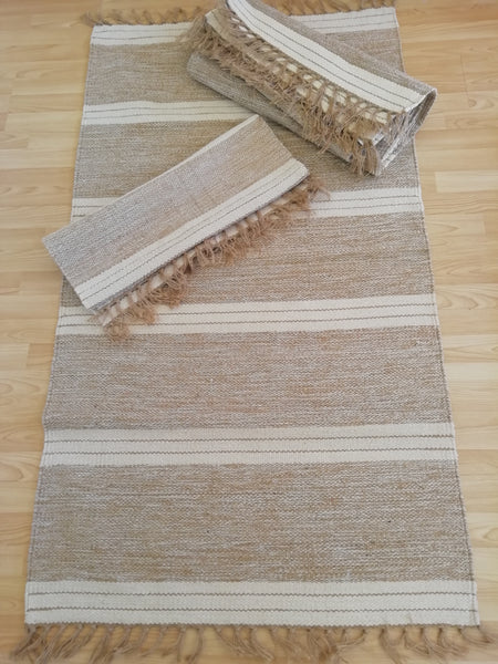 Handloomed Natural Rug