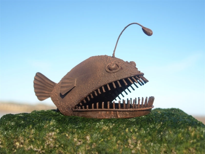 Rustic shelf sitting fish