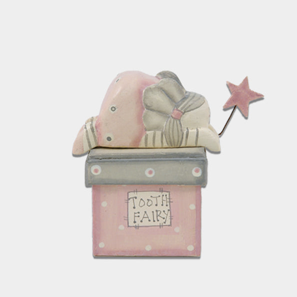 East of India Pink Baby's Tooth Fairy Box