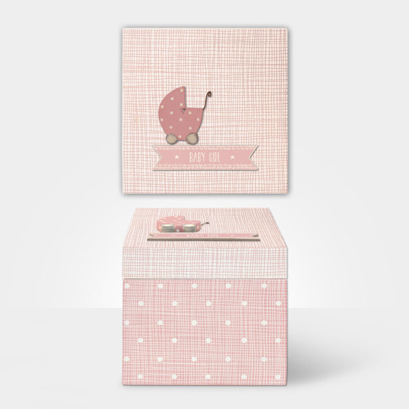 East of India Pink Square Wooden Box