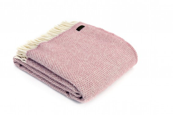 Tweedmill Lifestyle throw pink beehive design