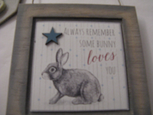 East of India bunny plaque
