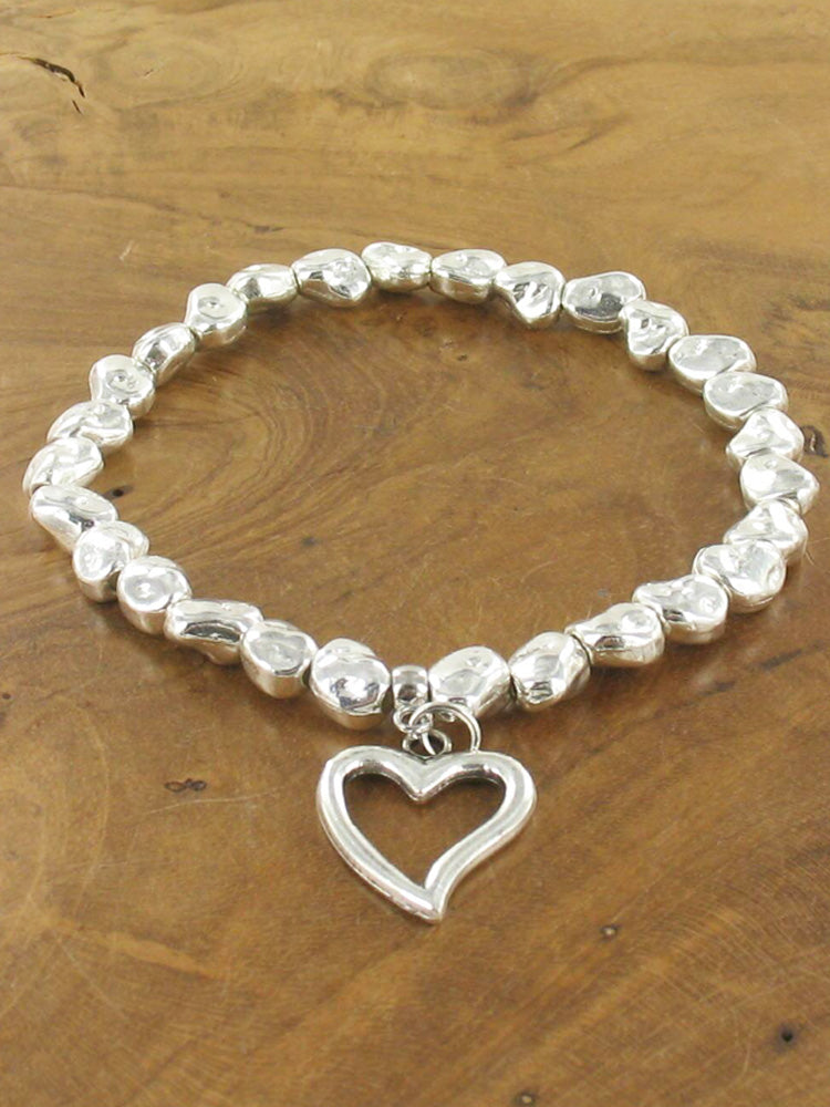 Nugget bracelet with heart