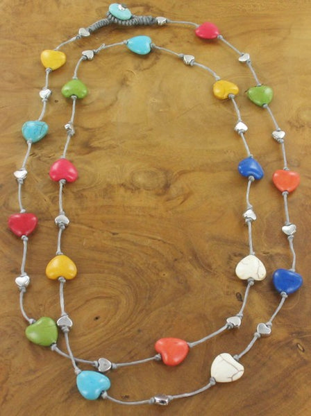 Heart Necklace multi colour