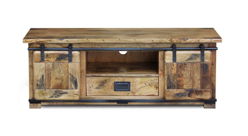 Industrial Mango TV Stand
