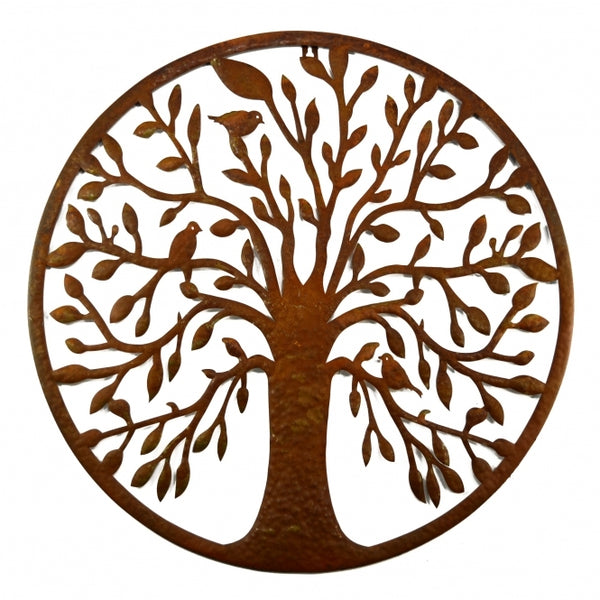 Rustic circular Tree of Life wall art