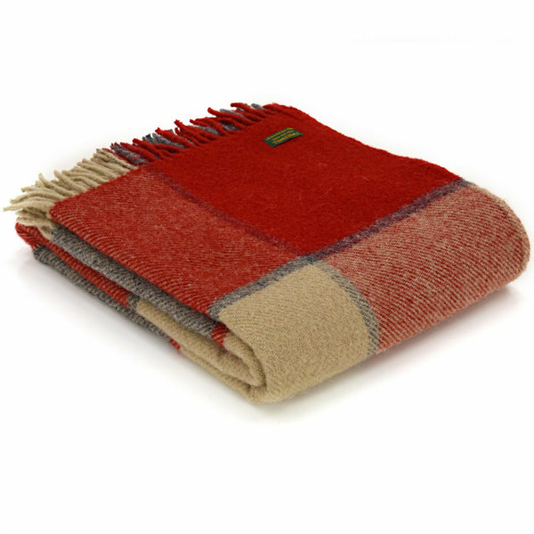 Tweedmill Lifestyle throw Bock Check Read and Slate