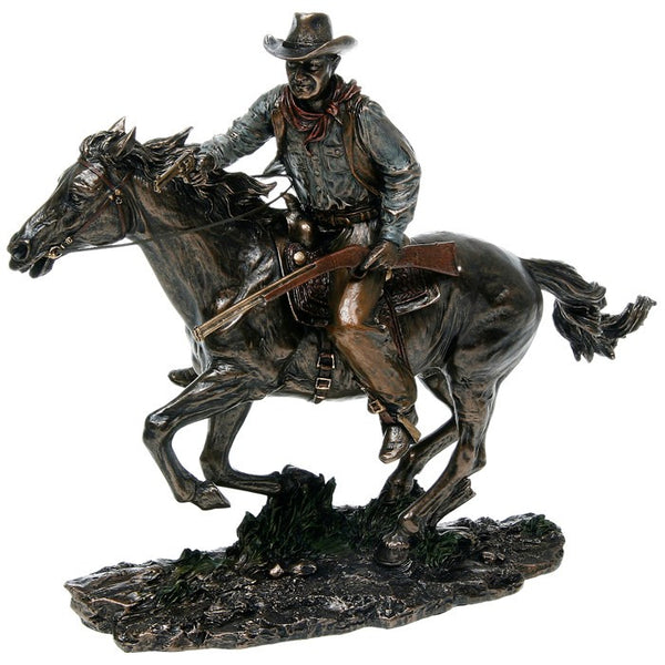 Cowboy figure on horse