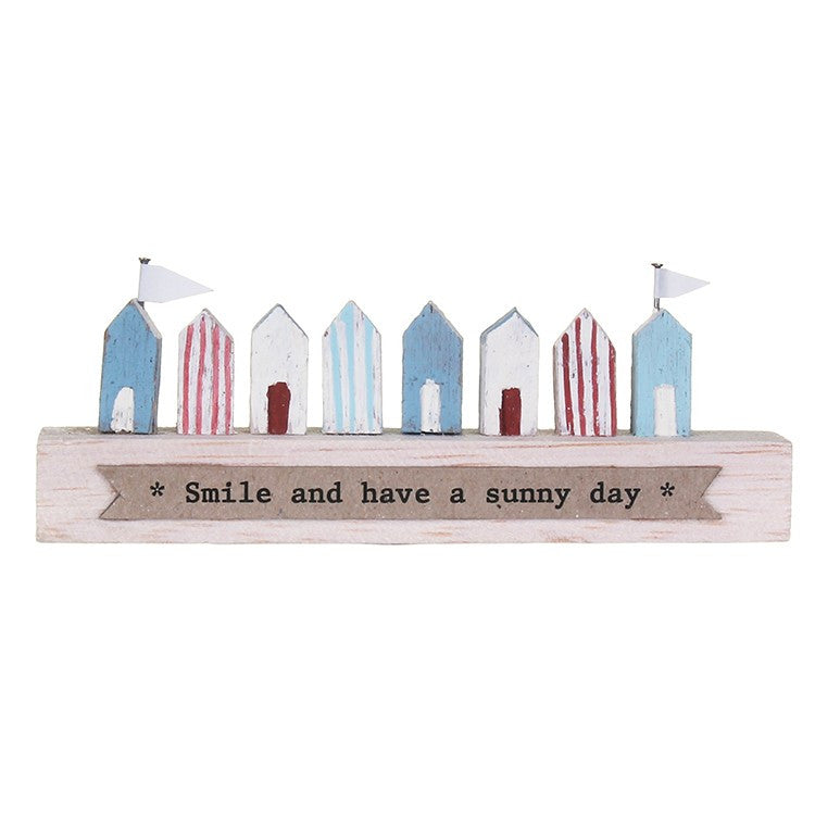 East of India handmade wooden beach hut ornament