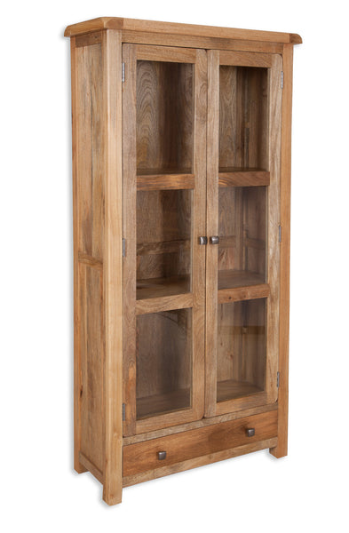 88x37x193cm Glazed display cabinet