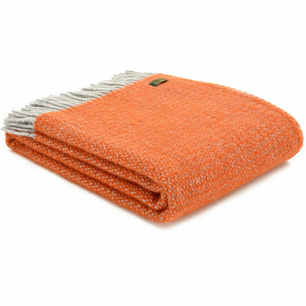 Tweedmill Lifestyle Illusion throw Pumpkin