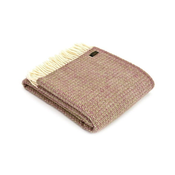 Tweedmill Lifestyle Illusion throw Raspberry