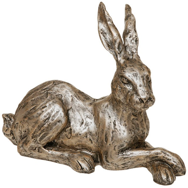 Champagne bronze lying hare