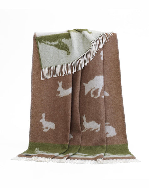 JJ Textiles Country Animal Throw