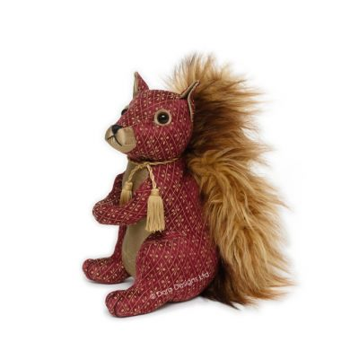Ruby Red Suirrel Tradional Door Stop by Dora Design